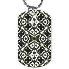 Abstract Geometric Modern Pattern  Dog Tag (one Sided) by dflcprints