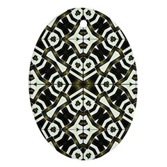 Abstract Geometric Modern Pattern  Oval Ornament (two Sides) by dflcprints