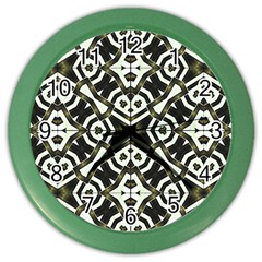Abstract Geometric Modern Pattern  Wall Clock (color) by dflcprints