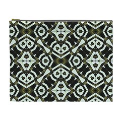 Abstract Geometric Modern Pattern  Cosmetic Bag (xl) by dflcprints