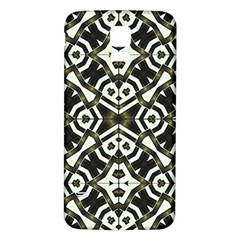 Abstract Geometric Modern Pattern  Samsung Galaxy S5 Back Case (white) by dflcprints