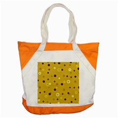 Abstract Geometric Shapes Design In Warm Tones Accent Tote Bag by dflcprints