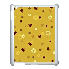 Abstract Geometric Shapes Design In Warm Tones Apple Ipad 3/4 Case (white) by dflcprints
