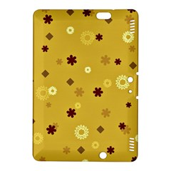 Abstract Geometric Shapes Design In Warm Tones Kindle Fire Hdx 8 9  Hardshell Case by dflcprints