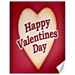 Heart Shaped Happy Valentine Day Text Design Canvas 12  X 16  (unframed) by dflcprints