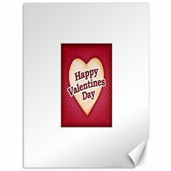 Heart Shaped Happy Valentine Day Text Design Canvas 36  X 48  (unframed) by dflcprints