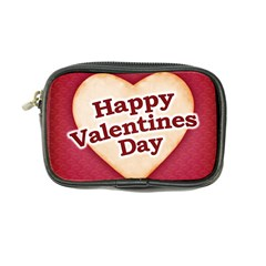 Heart Shaped Happy Valentine Day Text Design Coin Purse by dflcprints