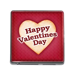 Heart Shaped Happy Valentine Day Text Design Memory Card Reader With Storage (square) by dflcprints