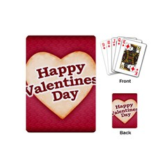 Heart Shaped Happy Valentine Day Text Design Playing Cards (mini) by dflcprints