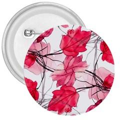 Floral Print Swirls Decorative Design 3  Button by dflcprints