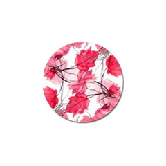 Floral Print Swirls Decorative Design Golf Ball Marker by dflcprints