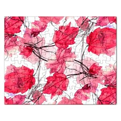 Floral Print Swirls Decorative Design Jigsaw Puzzle (rectangle) by dflcprints