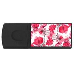 Floral Print Swirls Decorative Design 4gb Usb Flash Drive (rectangle) by dflcprints