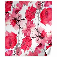 Floral Print Swirls Decorative Design Canvas 20  X 24  (unframed) by dflcprints