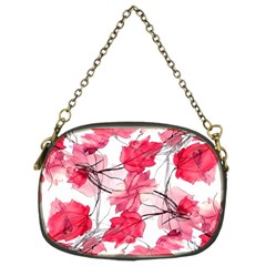 Floral Print Swirls Decorative Design Chain Purse (two Sided)  by dflcprints