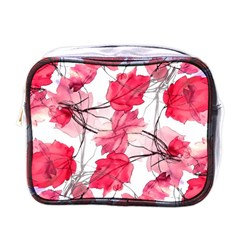 Floral Print Swirls Decorative Design Mini Travel Toiletry Bag (one Side) by dflcprints