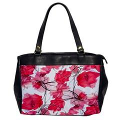 Floral Print Swirls Decorative Design Oversize Office Handbag (one Side) by dflcprints