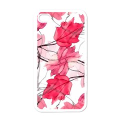 Floral Print Swirls Decorative Design Apple Iphone 4 Case (white) by dflcprints