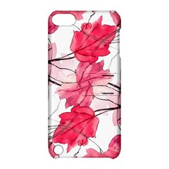 Floral Print Swirls Decorative Design Apple iPod Touch 5 Hardshell Case with Stand by dflcprints