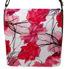 Floral Print Swirls Decorative Design Flap Closure Messenger Bag (small) by dflcprints