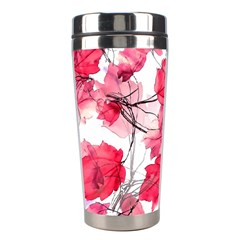Floral Print Swirls Decorative Design Stainless Steel Travel Tumbler by dflcprints