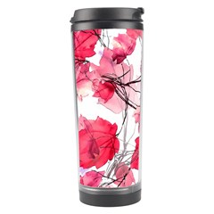 Floral Print Swirls Decorative Design Travel Tumbler by dflcprints