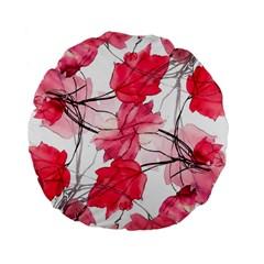 Floral Print Swirls Decorative Design 15  Premium Flano Round Cushion  by dflcprints
