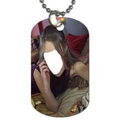 Maroon Woman Series #1 By Pamela Sue Goforth   Dog Tag (two Sides)   Vkltm8c46uc3   Www Artscow Com Front