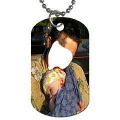 Take Out Lunch Baby ! Zombie Series #3  By Pamela Sue Goforth   Dog Tag (two Sides)   Tv33fyqcbrjv   Www Artscow Com Front