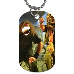 Foly Or Feeding Tube Got Twisted ! Gonnna Break The Chains ! By Pamela Sue Goforth   Dog Tag (two Sides)   3p8k23ge0c5u   Www Artscow Com Front