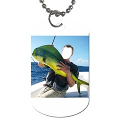 Green Tropical Fishier By Pamela Sue Goforth   Dog Tag (two Sides)   917in80d360m   Www Artscow Com Front