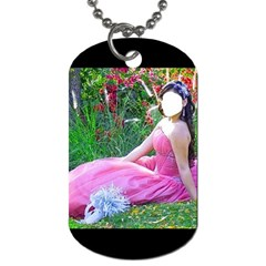 Pink By Pamela Sue Goforth   Dog Tag (two Sides)   Lvn081nhpl2e   Www Artscow Com Front