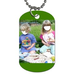 Siblings By Pamela Sue Goforth   Dog Tag (two Sides)   Qo6m3jk0dovl   Www Artscow Com Front