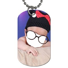Baby Genius ! By Pamela Sue Goforth   Dog Tag (two Sides)   Xbn25bcjdcg2   Www Artscow Com Front