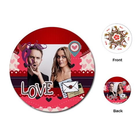 Love By Love   Playing Cards (round)   V83xooitt617   Www Artscow Com Front