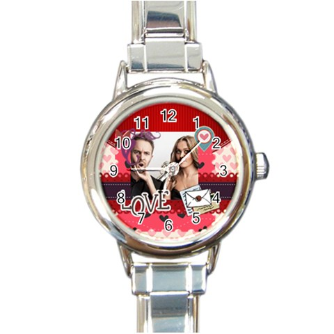 Love By Love   Round Italian Charm Watch   3r9lcrjsxe8n   Www Artscow Com Front