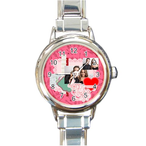 Love By Love   Round Italian Charm Watch   Alnnyr4dps60   Www Artscow Com Front