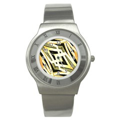 Art Print Tribal Style Pattern Stainless Steel Watch (slim) by dflcprints