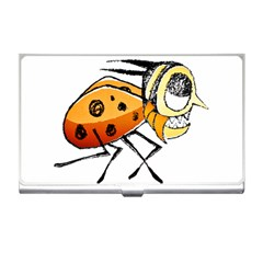 Funny Bug Running Hand Drawn Illustration Business Card Holder by dflcprints