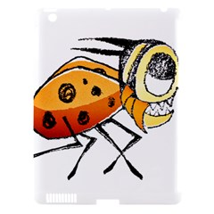 Funny Bug Running Hand Drawn Illustration Apple Ipad 3/4 Hardshell Case (compatible With Smart Cover) by dflcprints
