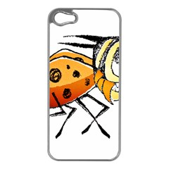 Funny Bug Running Hand Drawn Illustration Apple Iphone 5 Case (silver) by dflcprints