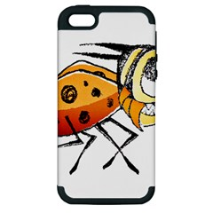 Funny Bug Running Hand Drawn Illustration Apple Iphone 5 Hardshell Case (pc+silicone) by dflcprints