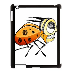 Funny Bug Running Hand Drawn Illustration Apple Ipad 3/4 Case (black) by dflcprints