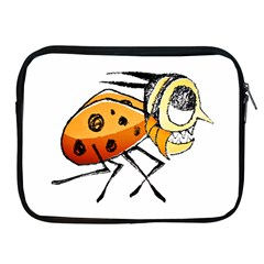 Funny Bug Running Hand Drawn Illustration Apple Ipad Zippered Sleeve by dflcprints
