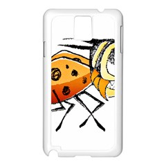 Funny Bug Running Hand Drawn Illustration Samsung Galaxy Note 3 N9005 Case (white) by dflcprints