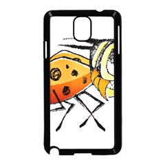 Funny Bug Running Hand Drawn Illustration Samsung Galaxy Note 3 Neo Hardshell Case (black) by dflcprints
