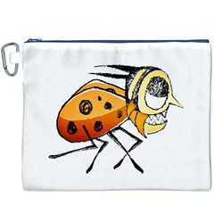 Funny Bug Running Hand Drawn Illustration Canvas Cosmetic Bag (xxxl) by dflcprints