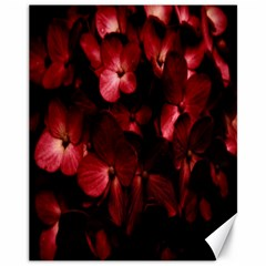 Red Flowers Bouquet In Black Background Photography Canvas 11  X 14  (unframed) by dflcprints