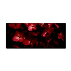 Red Flowers Bouquet In Black Background Photography Hand Towel by dflcprints