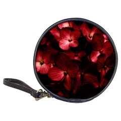 Red Flowers Bouquet In Black Background Photography Cd Wallet by dflcprints